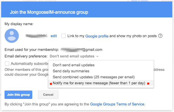 How to join MongooseIM mailing list