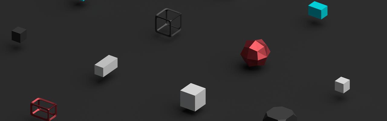 Banner - Finance dark cubes